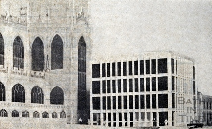 Artists impression of the new building proposed to house the Bath and Portland Group. Dec 1966