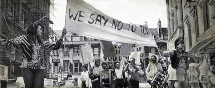 Buchanan Tunnel protesters 13 Jul 1971