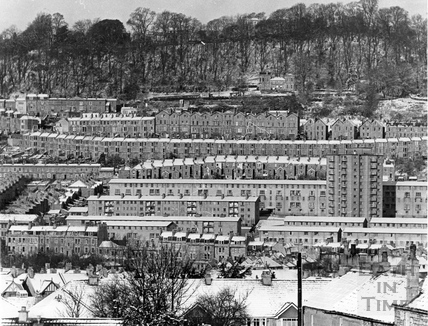 View of Snow Hill flats Feb 1969