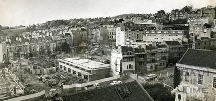 View of the Ballance Street development site 12 Nov 1973