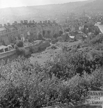 View down Lansdown Hill c.1969