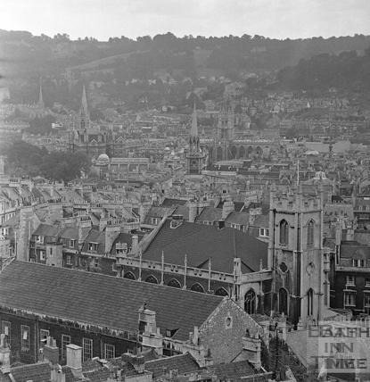 View of Ballance Street from a crane 1 August 1970