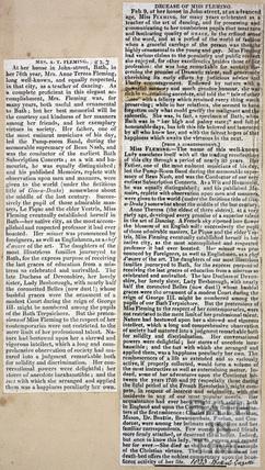Mrs A.T. Fleming obituary 1823