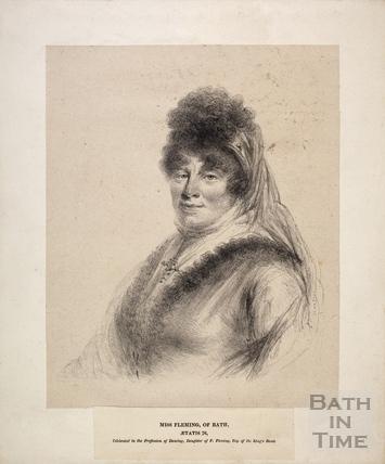 Miss Fleming of Bath, aged 76, 1821