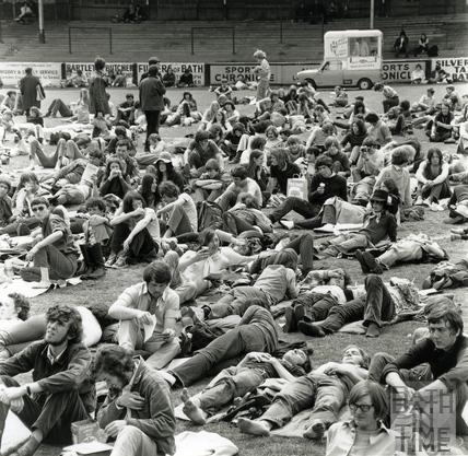 Bath Festival Revellers, Twerton Park May 1970