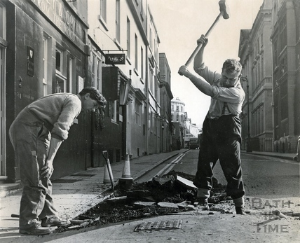 Fixing the road, Upper Borough Walls c.1960s