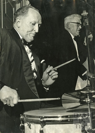 Ted Leather, Chairman of Bath Festivals c.1962