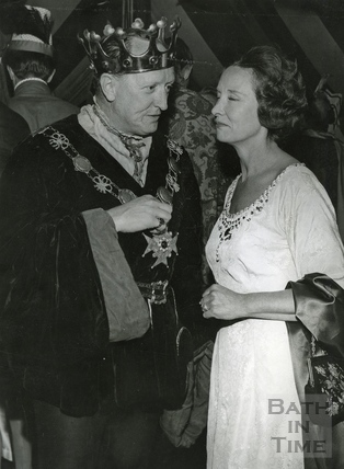 Mr and Mrs Ted Leather in fancy dress c.1966