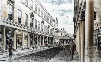 Artist's impression for the proposed Collonades Shopping Centre, Bath Street October 1986