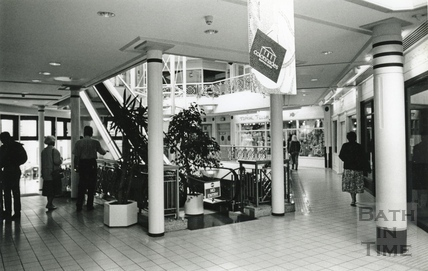 Inside the Collonades Shopping Centre, Bath Street August 1993