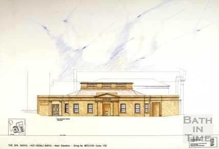 The Spa Baths - Hot (Royal) Baths - West Elevation c.1989