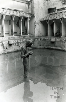 Anthony Gormley's sculpture at the Cross Baths, 9 July 1986