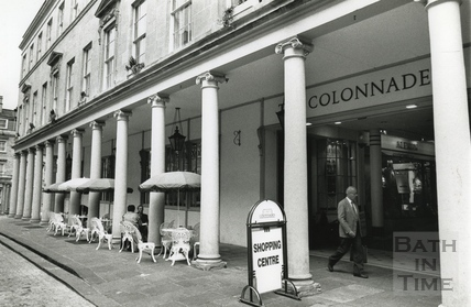 Exterior of the Collonades Shopping Centre, Bath Street May 1990