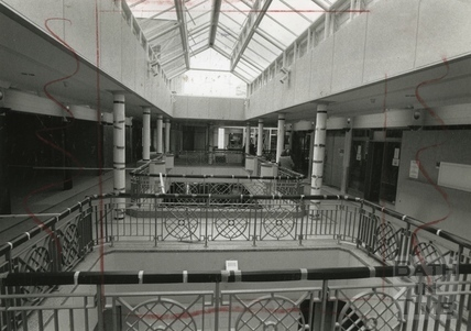 Inside the Collonades Shopping Centre, Bath Street September 1988