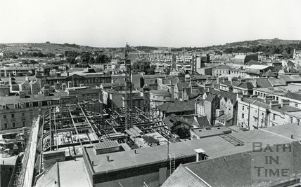 View across the rooftops from Arlington House, 16 Sept 1987