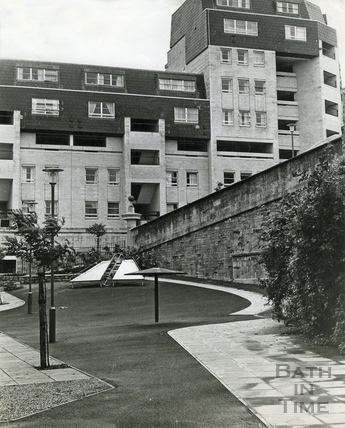 The completed Ballance Street flats, 14 August 1972