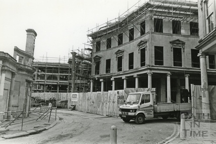 Development of the Collonades Shopping Centre, Bath Street, December 1987