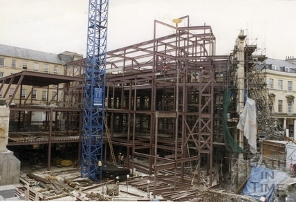 Construction of the Collonades Shopping Centre, Bath Street 13 July 1987