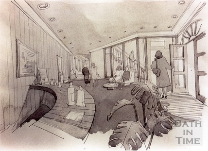 Artists impression of the Reception area in Bath Street, 7 Dec 1993