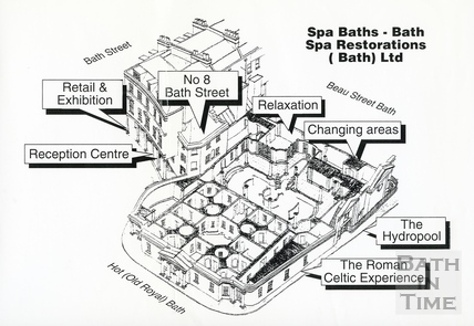 Plan of the proposed Bath Spa restoration, 6 July 1993