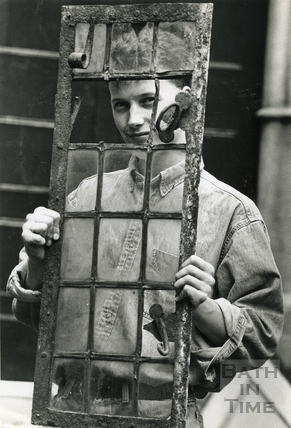 Christopher Woodward with an iron window 25 August 1993