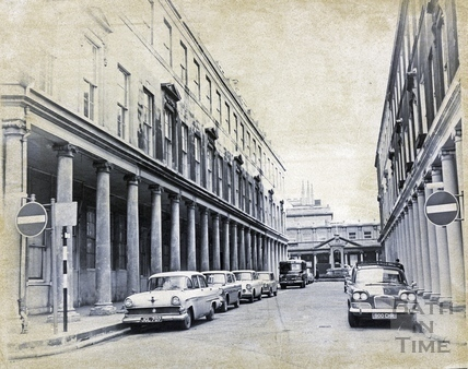 View  looking east up Bath Street c.1960s