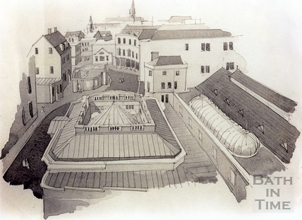 Rooftop view of the proposed Spa redevelopment, 7 Dec 1993