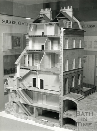 A 1:20 scale model of 26 Great Pulteney Street, May 1992