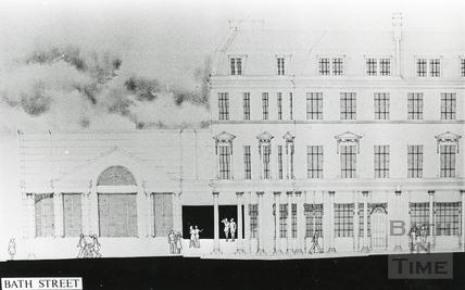 Architect's drawing of Bath Street development, 13 Dec 1985