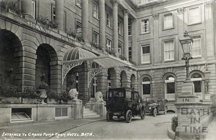 The Entrance to the Grand Pump Room Hotel 1917