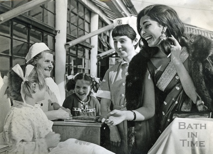 Reita Faria, Miss World 1966 visiting Bath in March 1967