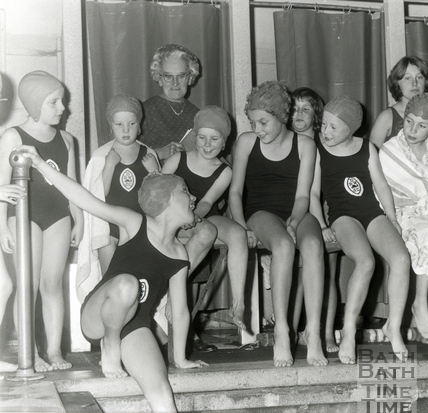 Testing the water at Beau Street Baths c.1960s