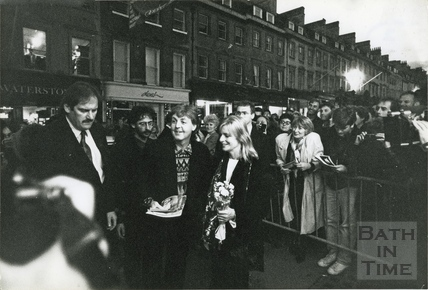 Paul and Linda McCartney in Milsom Street, 10 Oct 1992