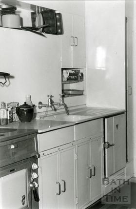 Inside a prefab, 1960s