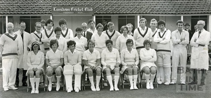 Lansdown Men's and Ladies' cricket teams, June 1971