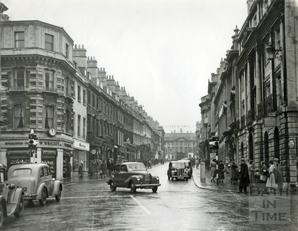 Milsom Street with two-way traffic, 1950s