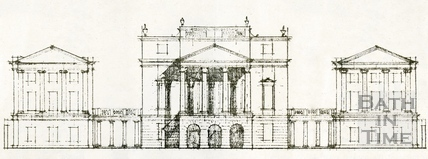 Artists impression of proposed alterations to be added to The Holburne Museum, 1974