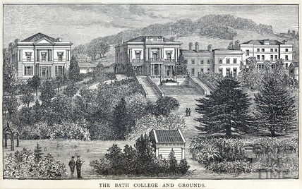 The Bath College and grounds c.1880s?