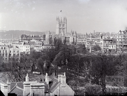 View to Bath Abbey pre 1955