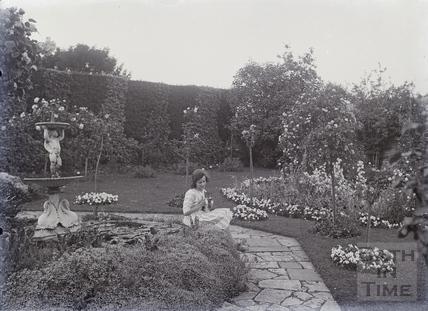 Girl with kitten, Batheaston? c.1920s