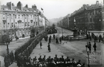 The Royal Visit to Bath, 9 Nov 1917
