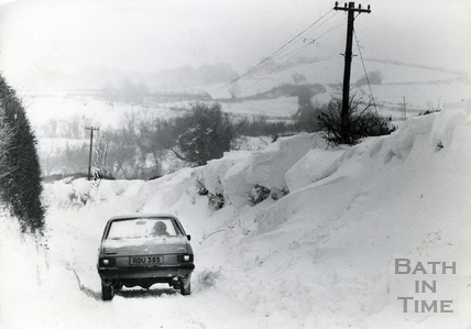 Snowdrifts in Bath 18 Jan 1982