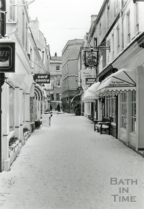 Northumberland Place in the snow, Jan 1987
