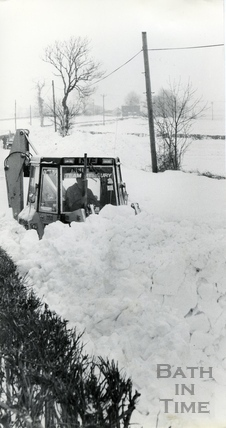 Clearing the snow, 18 Jan 1982