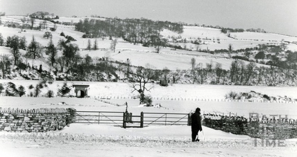 Looking across towards Kelston, 18 Jan 1982