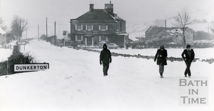 A wintry scene in Dunkerton 18 Jan 1982