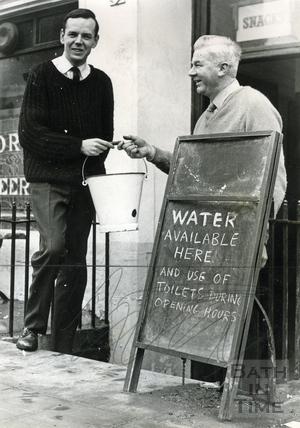 Tom Harper at the Larkhall Inn, 28 Jan 1963