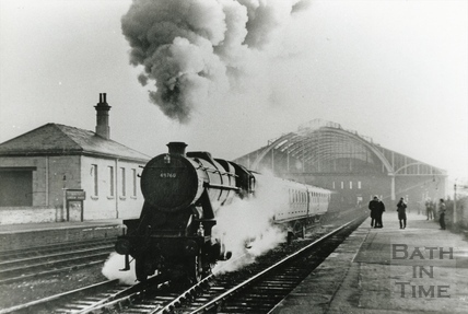 Engine No 48760 leave Green Park station March 1966