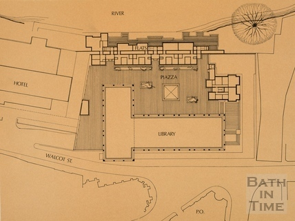 An initial proposal to site a new public library on the Podium Site, Upper Pedestrian Level 1976