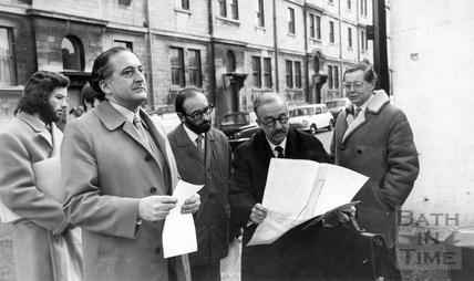 Mr John Eyre with Duncan Harrison, Grove Street c.1980s